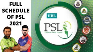 PSL 2021 TIME TABLE